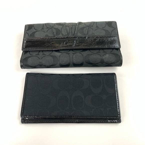 Coach Handbags - Coach Womens Wallet Trifold Button Shut Checkbook